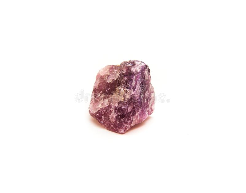 Fluorite mineral isolated royalty free stock image
