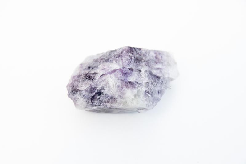 Fluorite mineral isolated over white royalty free stock photo
