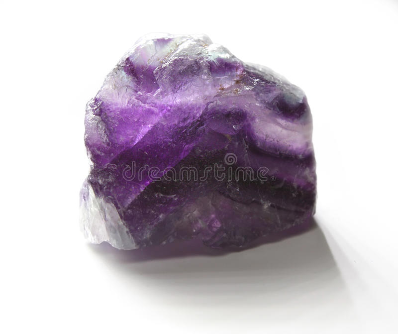 Fluorite pattern. Fine sample of violet fluorite for your mineralogical collection. Brazil field royalty free stock photography