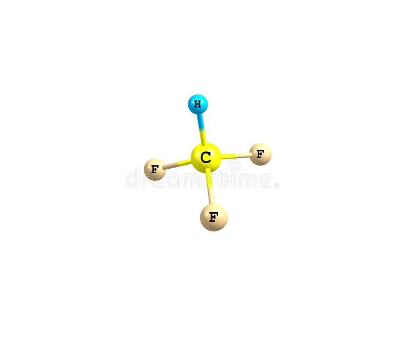 Fluoroform molekuła odizolowywająca na bielu ilustracji