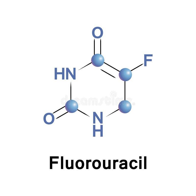 Fluorouracil is een medicijn voor kanker stock illustratie
