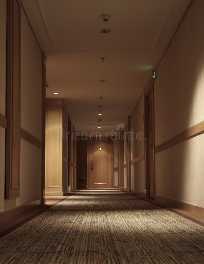 Flur des Hotels stockfotos