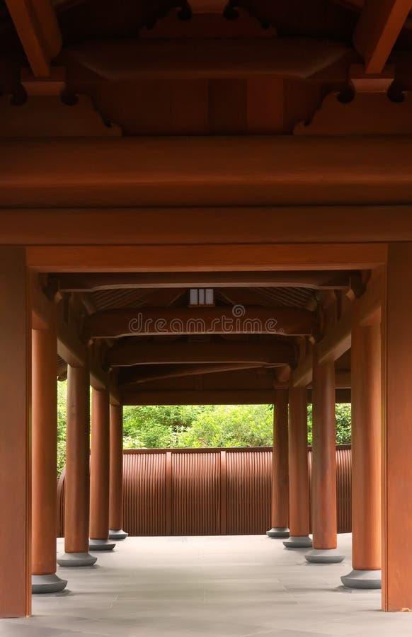 Flur des traditionellen Chinesen hergestellt durch Holz lizenzfreies stockfoto