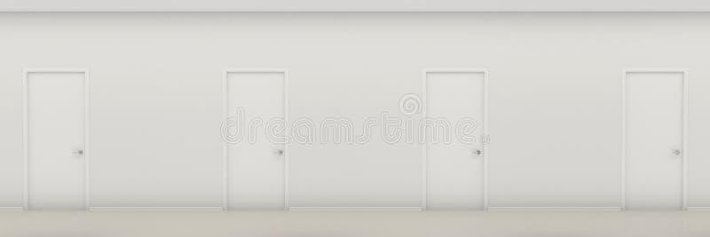 Flur mit Türen lizenzfreie abbildung
