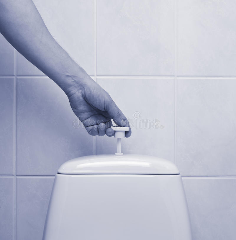 Flush the toilet royalty free stock photos