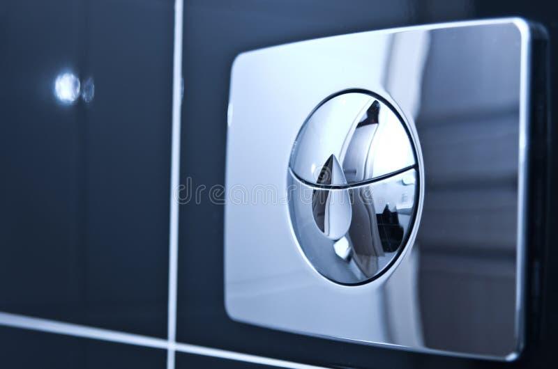 Flusher туалета стоковое изображение