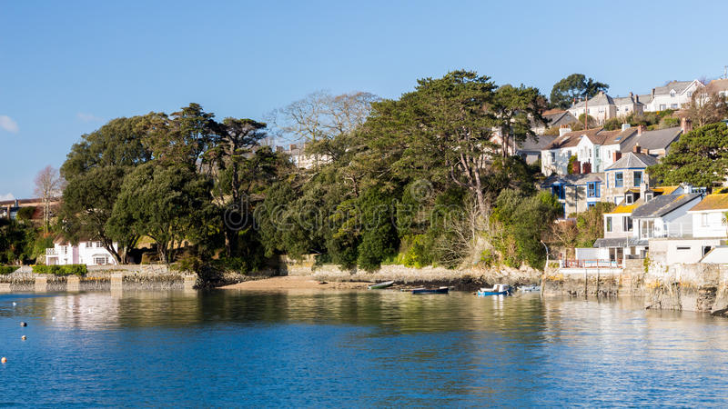 Flushing Cornwall. The coastal village of Flushing on the Penryn River, Part of the Carrick Roads Cornwall England UK Europe stock photography