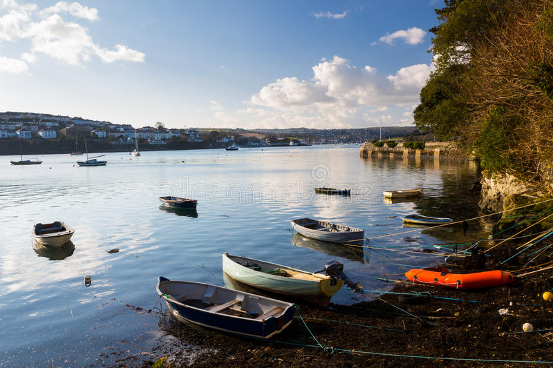 Flushing Cornwall. The coastal village of Flushing on the Penryn River, Part of the Carrick Roads Cornwall England UK Europe royalty free stock photos