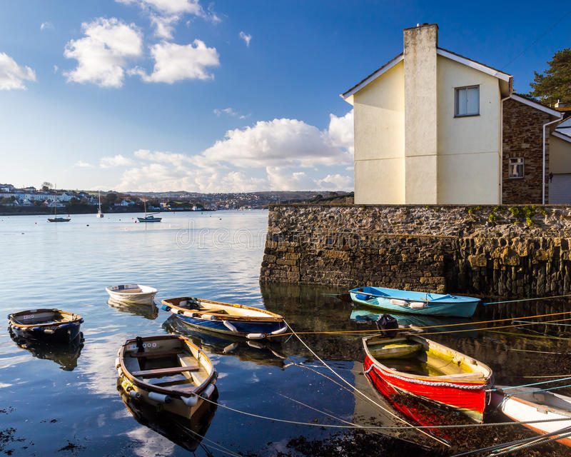 Flushing Cornwall. The coastal village of Flushing on the Penryn River, Part of the Carrick Roads Cornwall England UK Europe stock images