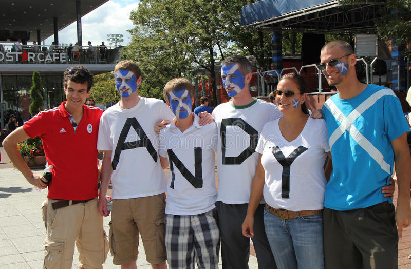 Download Andy Murray's Fans Ready For Final Match At US OPEN 2012 At Billie Jean King National Tennis Center Editorial Stock Photo - Image: 29764638