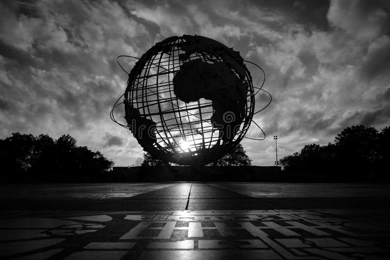 Unisphere globe in Flushing Meadows Corona Park royalty free stock photos