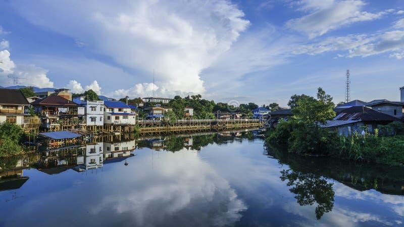 Fluss-Ansicht Chantaburi stockfoto