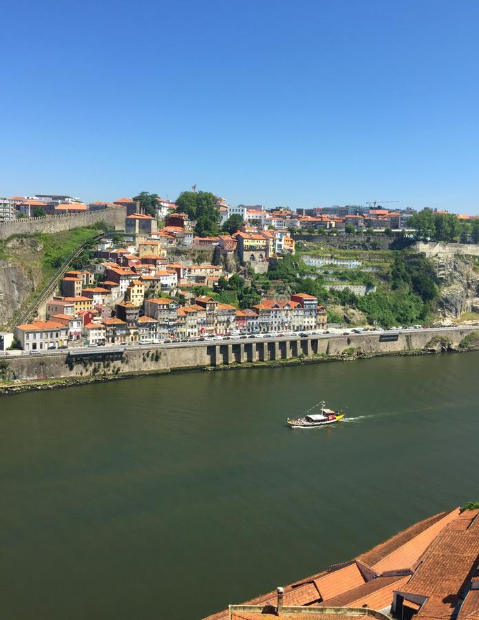 Fluss-Ansicht Porto Portugal Duoro lizenzfreie stockfotos