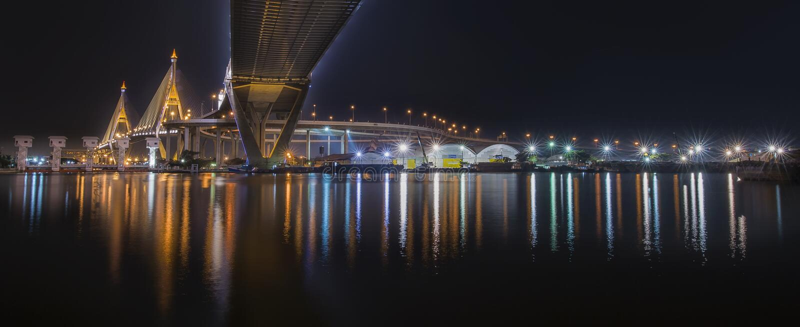 Fluss-Brücke in Bangkok lizenzfreie stockfotografie