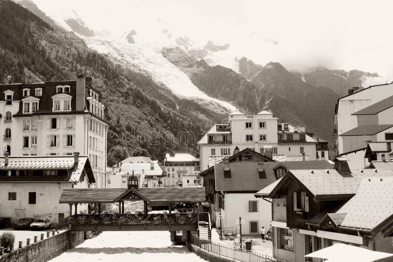 Fluss In Chamonix-Stadt Lizenzfreies Stockbild