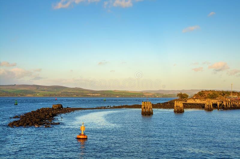 Fluss Clyde bei Gourock lizenzfreie stockfotografie