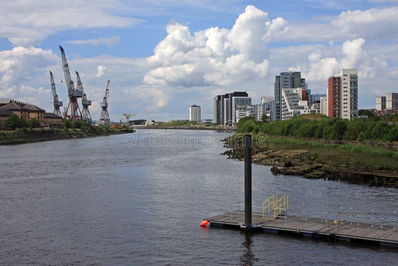 Fluss Clyde, Glasgow lizenzfreies stockfoto
