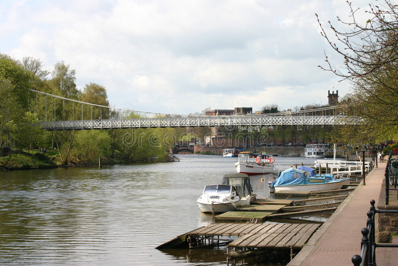 Fluss Dee in Chester stockfoto