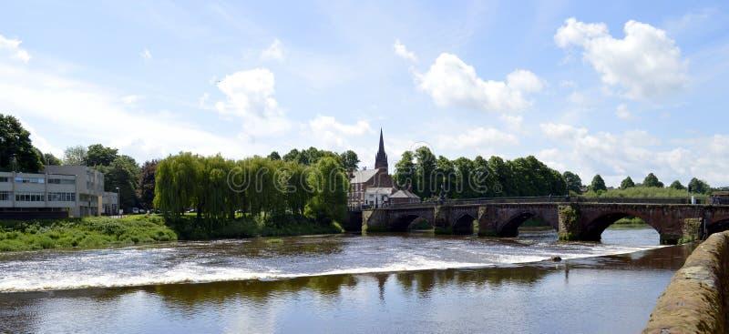 Fluss Dee in Chester lizenzfreie stockfotos