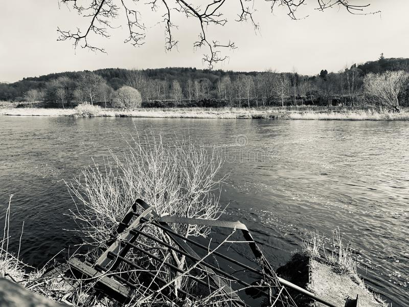 Fluss Dee stockfotografie
