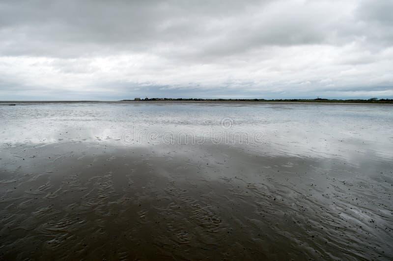 Fluss Dee Estuary stockbilder
