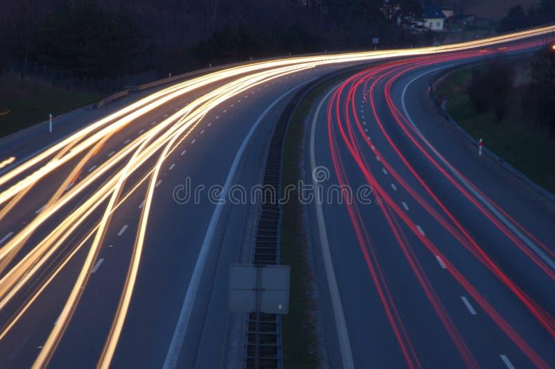 Fluss der Leuchten lizenzfreie stockfotos