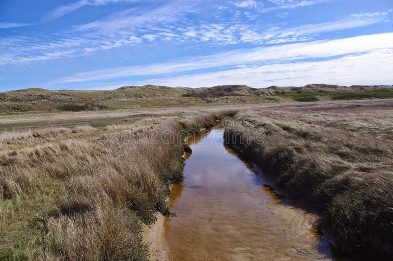 Fluss in der Steppe stockfotografie