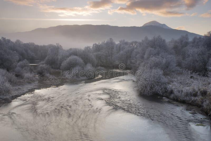 Fluss Dochart lizenzfreie stockbilder
