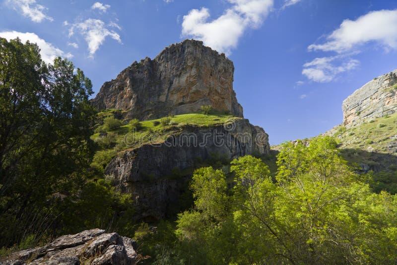 Fluss Dulce-Klippen in Guadalajara, Spanien lizenzfreie stockfotografie
