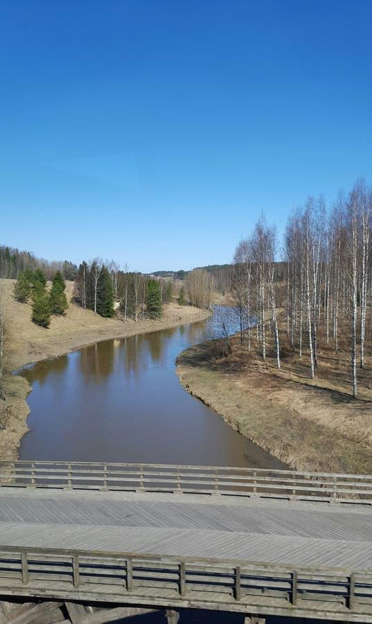 Fluss in Finnland stockfoto