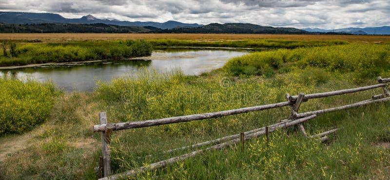 Fluss Gros Ventre lizenzfreies stockbild