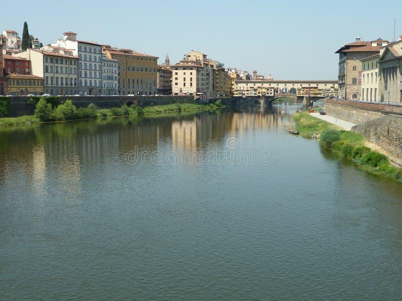 Fluss in Italien stockfoto