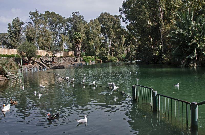 Fluss Jordan bei Israel lizenzfreie stockbilder