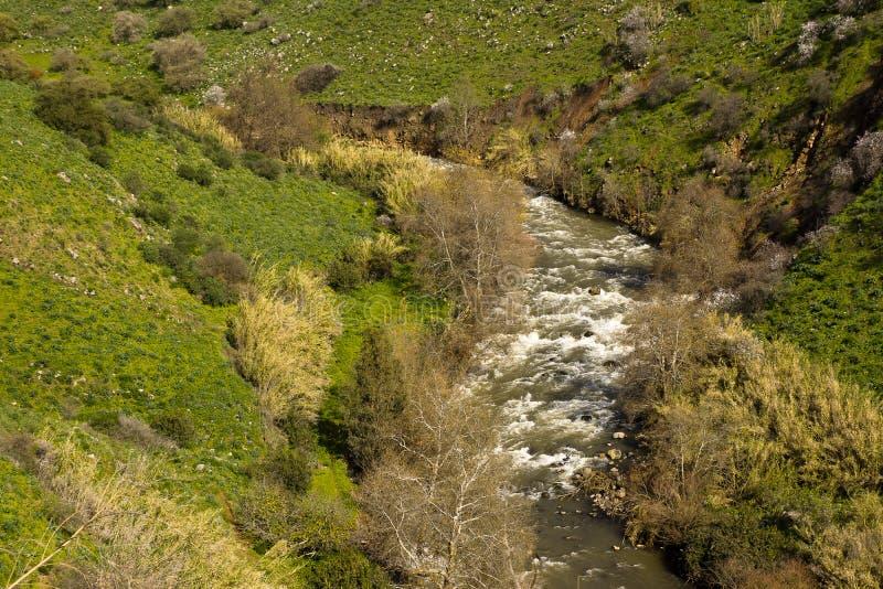 Fluss Jordan Israel stockfotografie