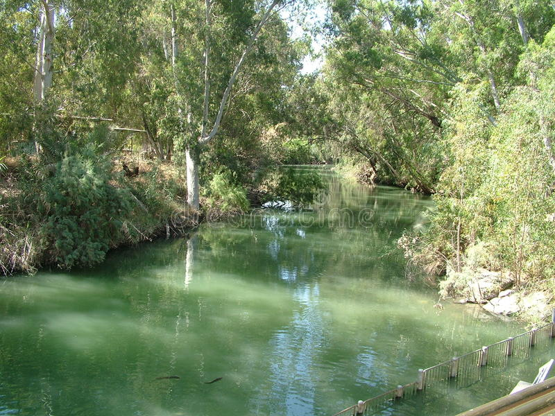 Fluss Jordan Israel lizenzfreie stockfotos