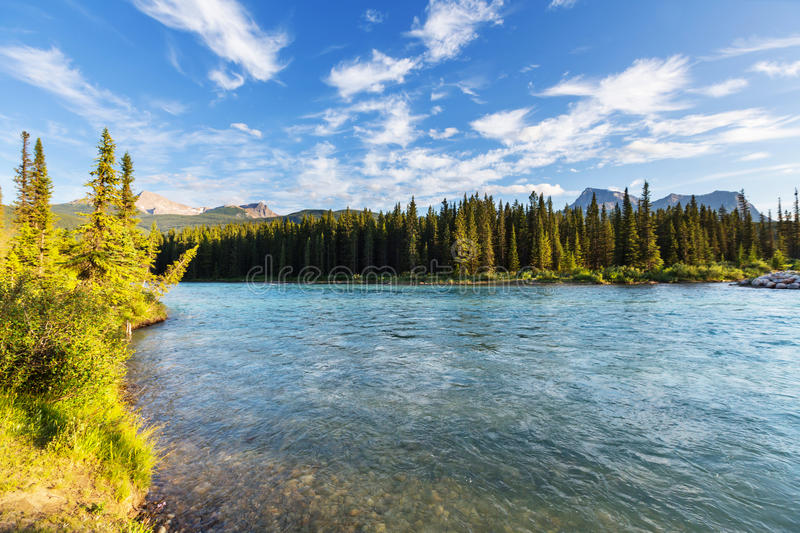 Download Fluss in Kanada stockfoto. Bild von kanada, allee, grün - 90227492