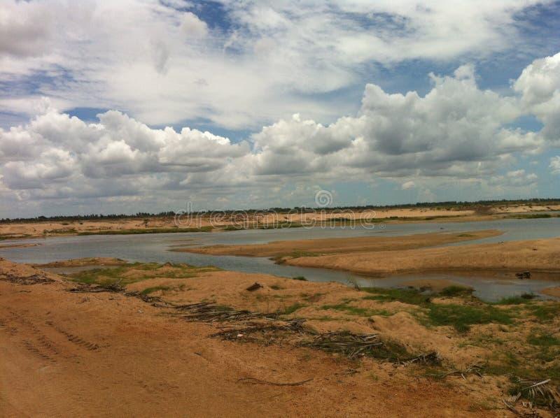 Fluss Krishna Dry lizenzfreie stockfotografie