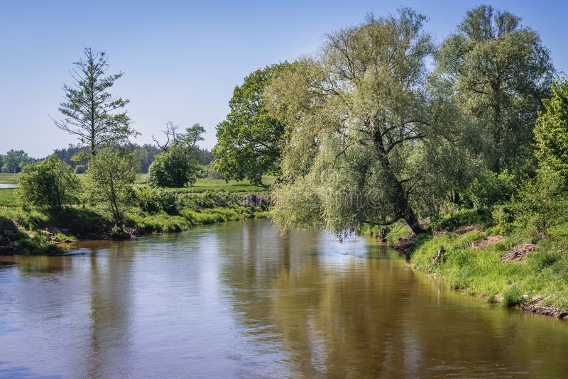 Fluss Liwiec in Polen lizenzfreies stockfoto