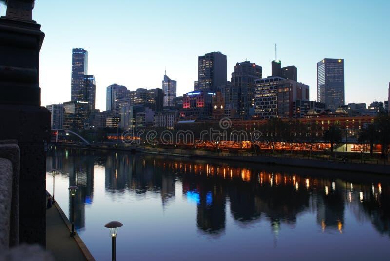 Fluss Melbourne-Yarra lizenzfreies stockfoto