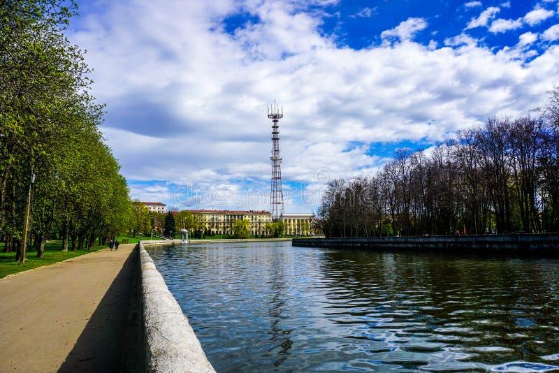 Fluss Minsks Svislach Fernsehen lizenzfreies stockfoto