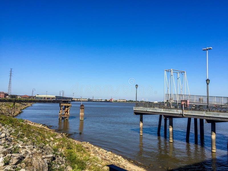 Fluss Mississipi New Orleans lizenzfreies stockfoto