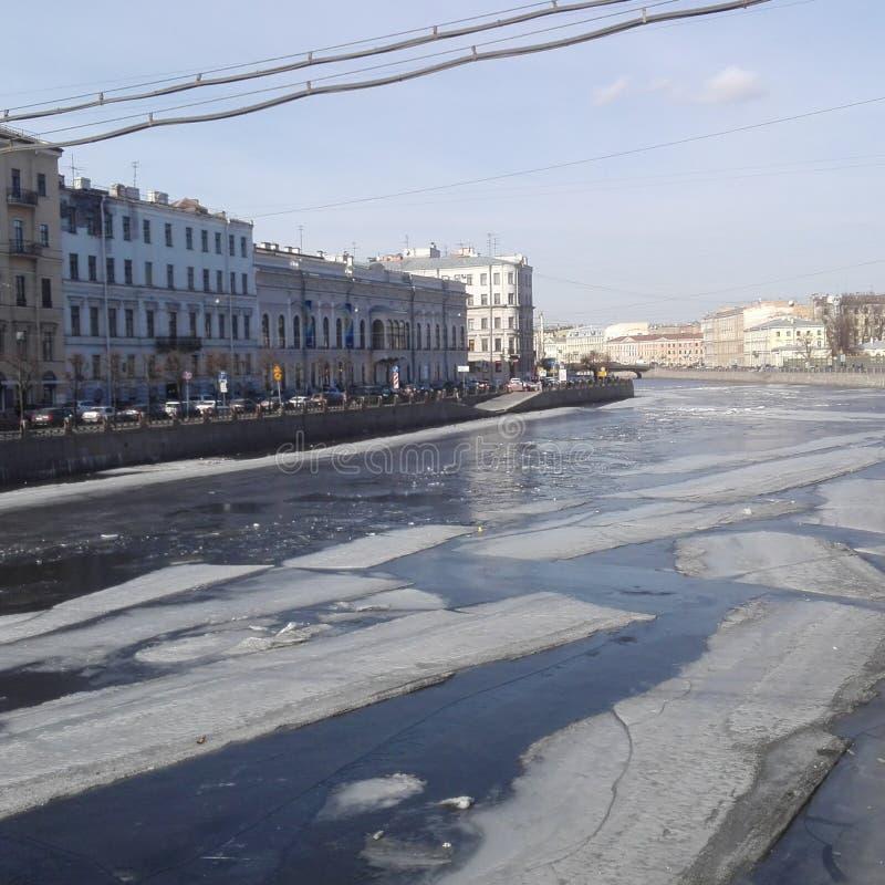 Fluss Newa in St Petersburg stockfoto