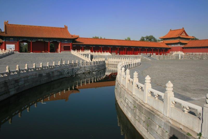 Fluss in Peking, China stockfotografie