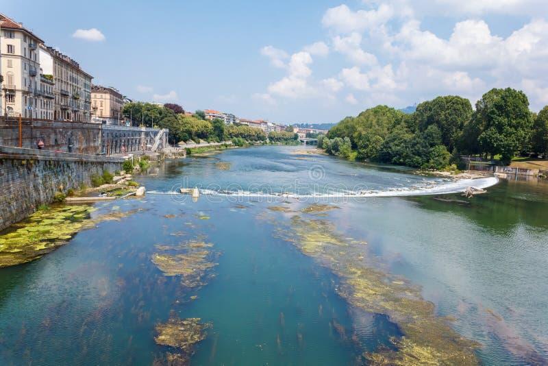 Fluss PO, Turin lizenzfreie stockfotos