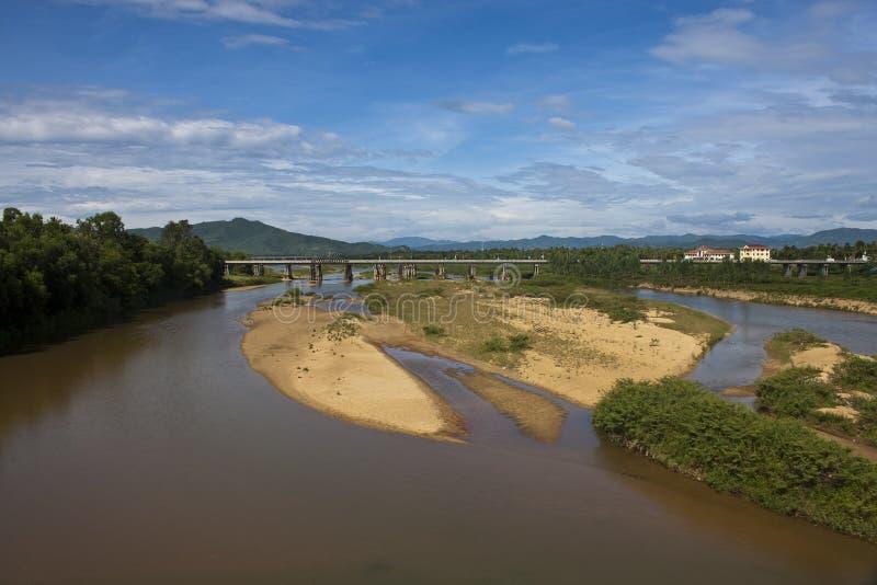 Fluss in Süd-Vietnam stockfoto
