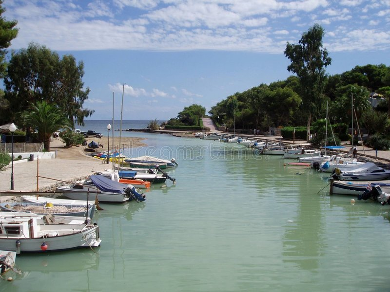 Fluss in Sankt Eulalia, Ibiza lizenzfreie stockfotos