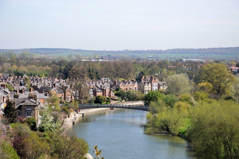 Fluss Severn-Ansicht, Shrewsbury lizenzfreie stockfotos