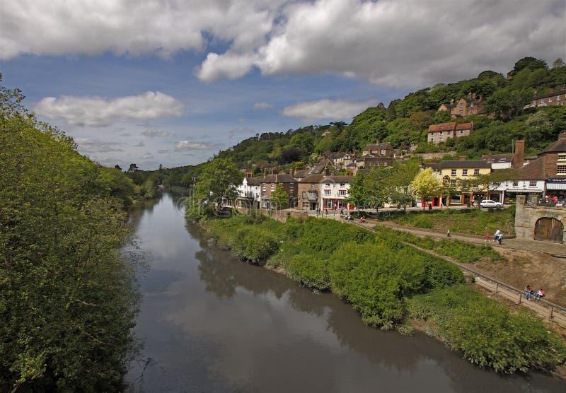 Fluss Severn bei Ironbridge lizenzfreie stockfotografie