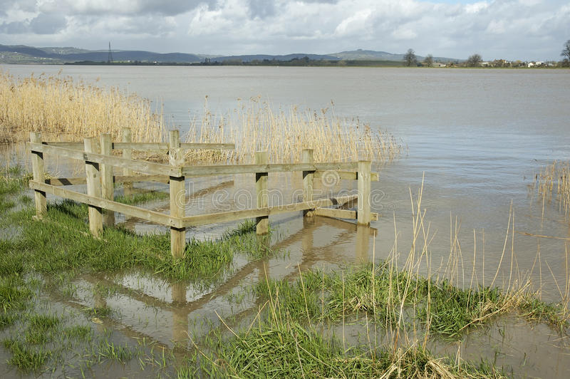 Fluss Severn bei oberem Framilode stockbilder