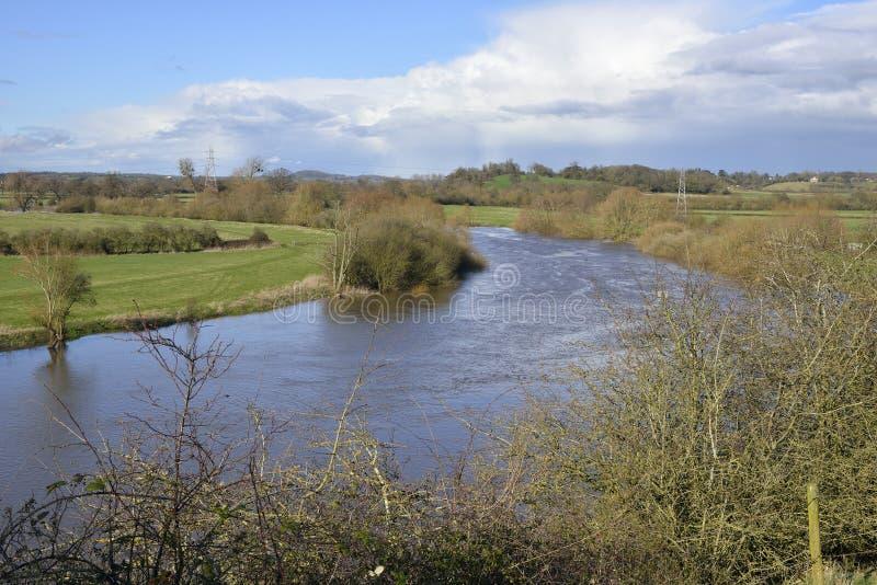 Fluss Severn bei Wainlode stockbild